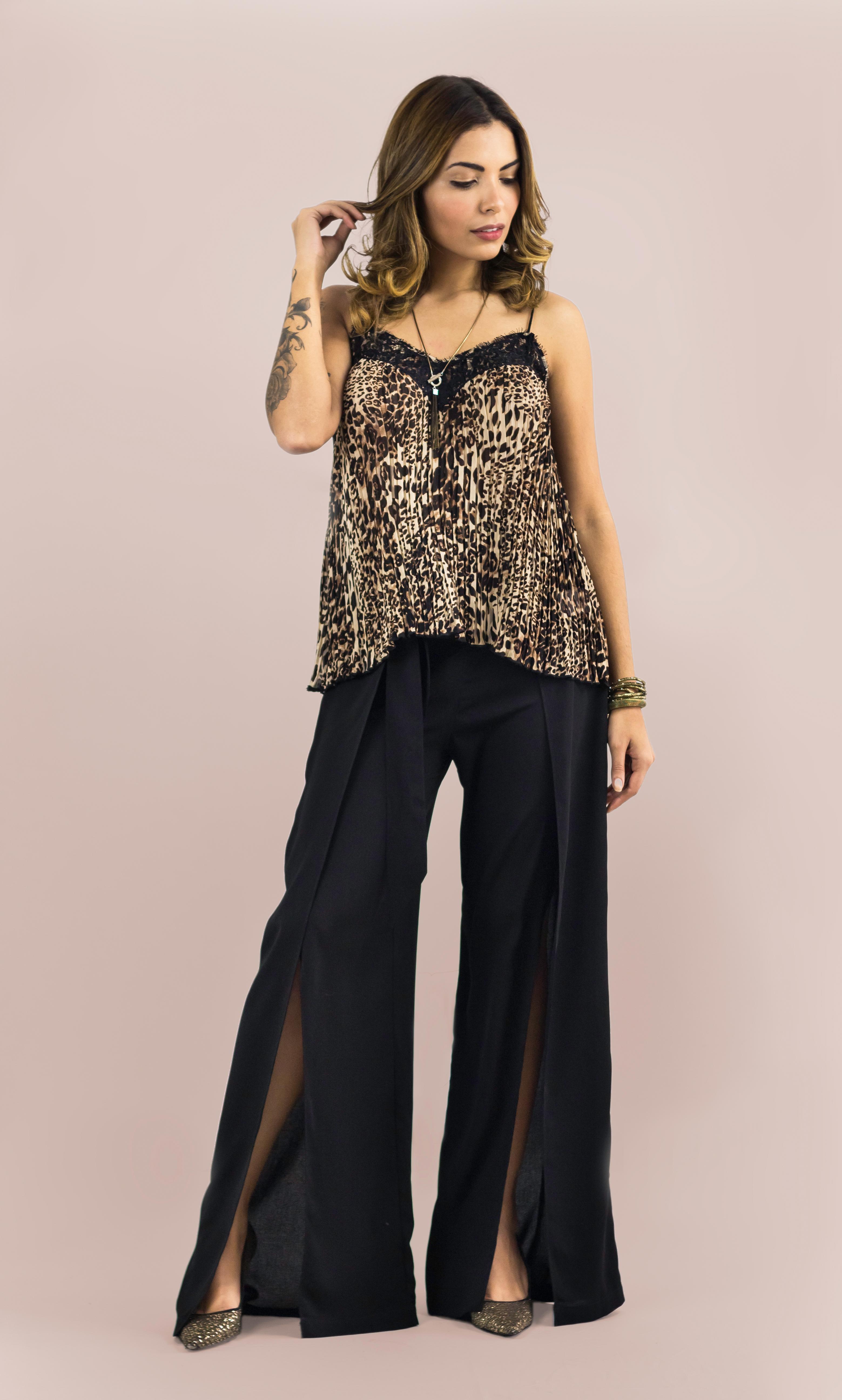 dd0d07df1e Blusa Alcinha Plissada com Renda – The Style Box